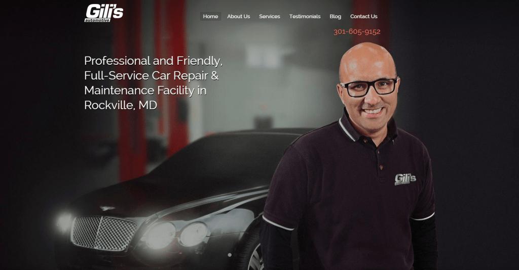 new gili's automotive repair site